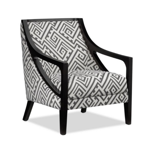Rowena Accent Chair White And Grey Accent Chairs Black Accent