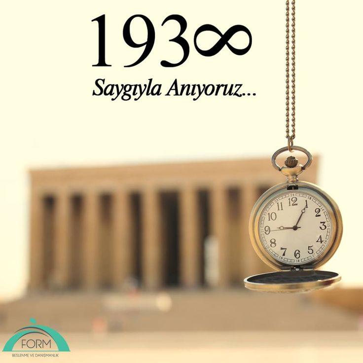 Gazi Mustafa Kemal'i saygıyla anıyoruz!  #10Kasım #MustafaKemal