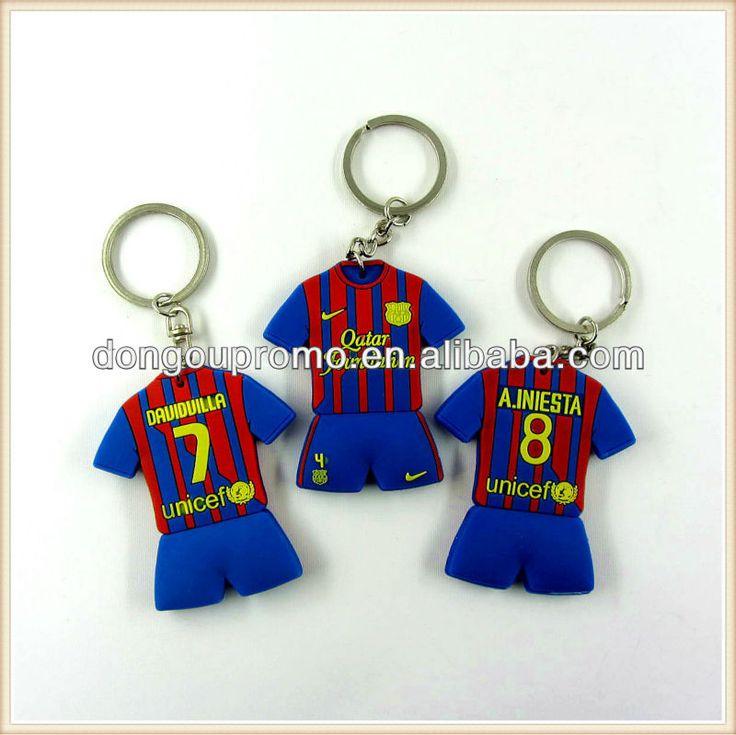 프로모션 항목, 사용자 정의 3D PVC 열쇠 고리 축구 유니폼