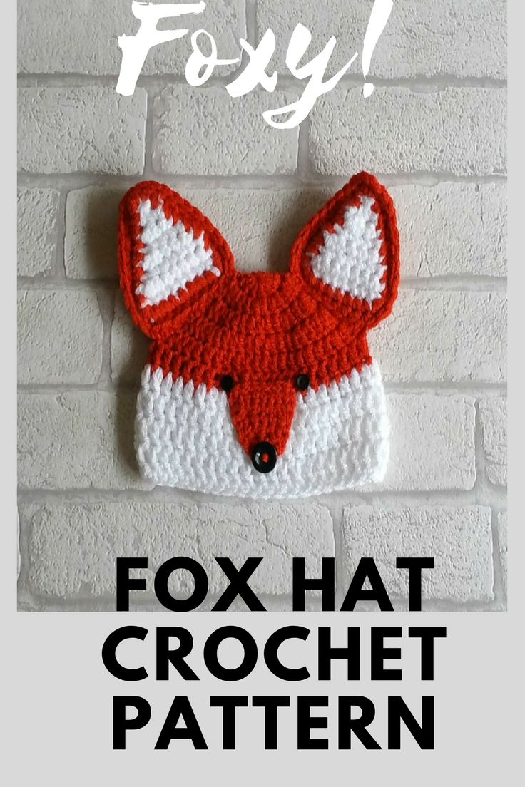 I LOVE making this crochet fox hat  totally cute and an absolute bargain