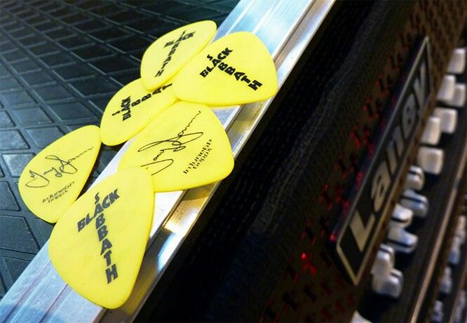 Truly amazing stuff...Tony Iommi guitar picks, Dunlop Custom Iommi signature.