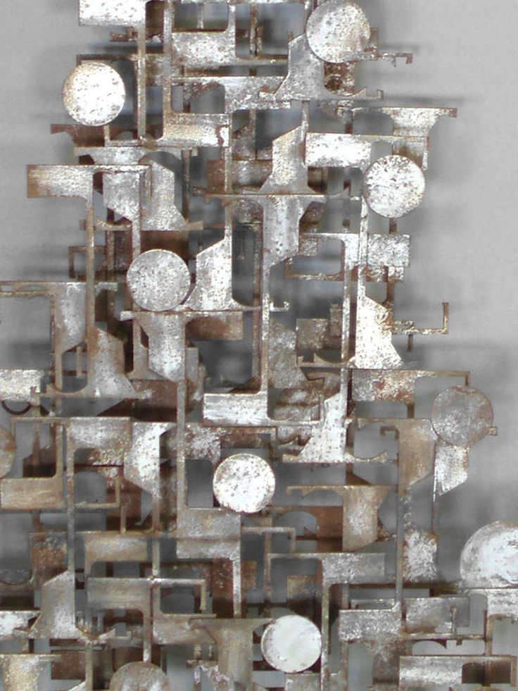 Brutalist Industrial Wall Sculpture   From a unique collection of antique and modern wall-mounted sculptures at http://www.1stdibs.com/furniture/wall-decorations/wall-mounted-sculptures/