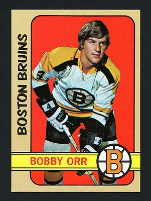 1972-73 TOPPS BOBBY ORR #100 MINT FROM HOCKEY VENDING BOX - BOSTON BRUINS HOF