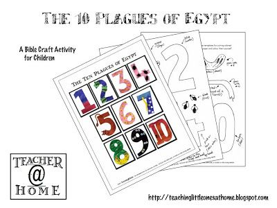 Free Printable - The Ten Plagues of Egypt from Teacher@Home