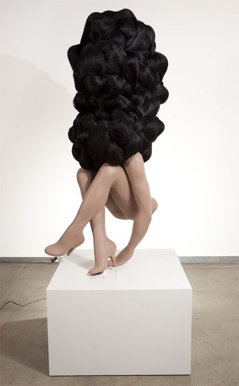 """""""She Was a Big Success,"""" by Valerie Blass. It looks like it keeps building beneath all that hair!!"""