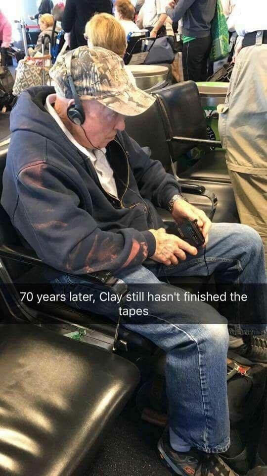 Clay Jensen, 70 years later, still listening to the tapes.