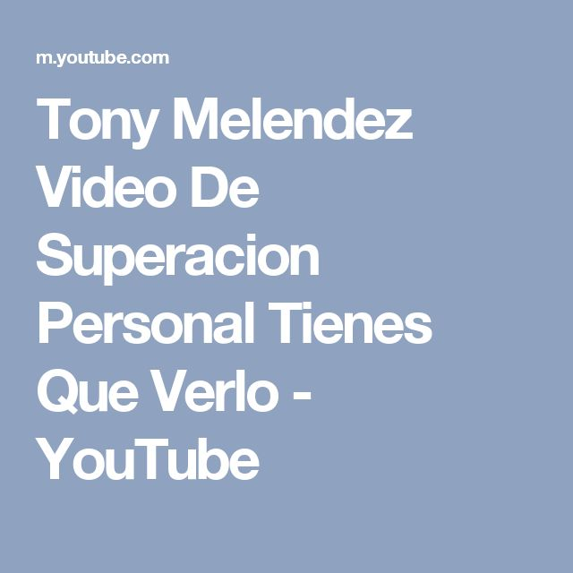 Tony Melendez Video De Superacion Personal Tienes Que Verlo - YouTube