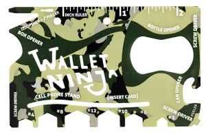 Wallet Ninja 18 in 1 Multi-purpose Credit Card Size Pocket Tool There are all sorts of tools, and they are well-labeled on the tool itself.  It wont replace a toolbox obviously but will come in handy when you need to fix eye-glasses or measure something.  http://awsomegadgetsandtoysforgirlsandboys.com/cool-gadgets-for-teenage-guys/ Cool Gadgets For Teenage Guys: Wallet Ninja 18 in 1 Multi-purpose Credit Card Size Pocket Tool