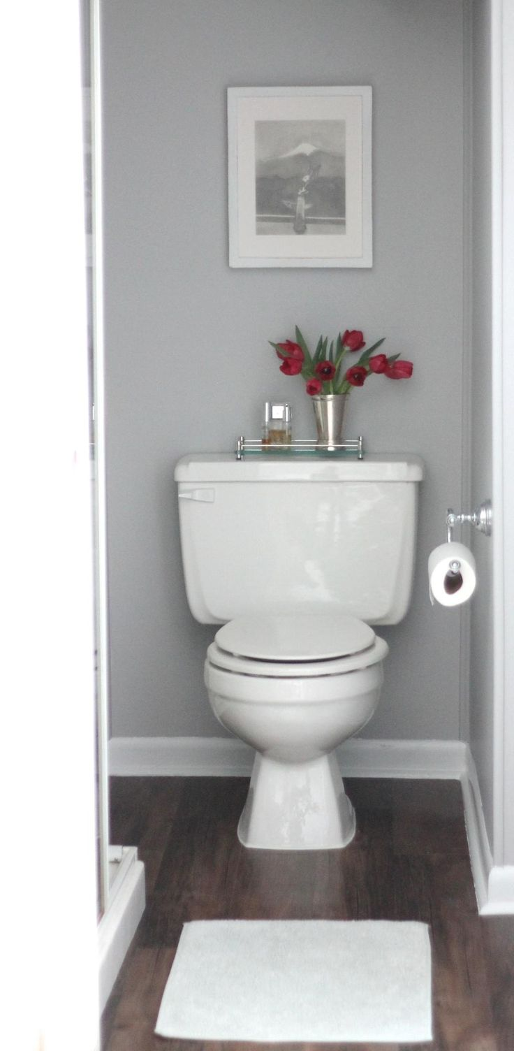 Easy & inexpensive bathroom remodel | diy floor #Tulips #Bath #Remodel