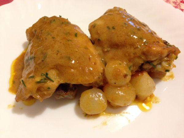 Ricetta Portata principale : Pollo alla senape con paprika e cipolline da Pelledipollo