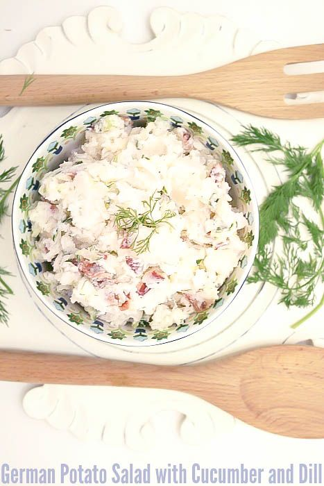 Potato Salad with Cucumber and Dill is a low calorie and low fat salad ...