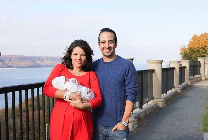 Vanessa Nadal and Lin Manuel Miranda and their new son Sebastian. 11/10/14