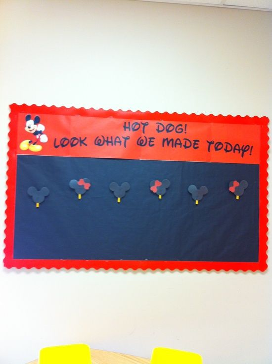 display student's work, Mickey Mouse theme