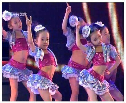 Сальса юбка 2017 новые дети бальные платья танцевальные костюмы для детей Блесток джазовый танец хип-хоп танцевальные костюмы