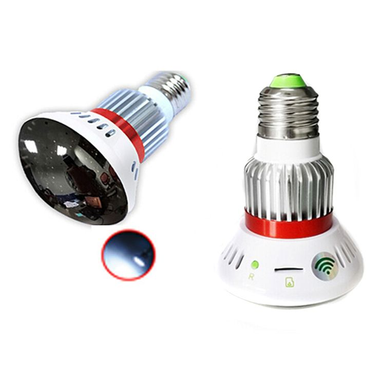 BC-785WM HD720P CMOS Wi-Fi Bulb IP Camera - Silver + White - Free Shipping - DealExtreme
