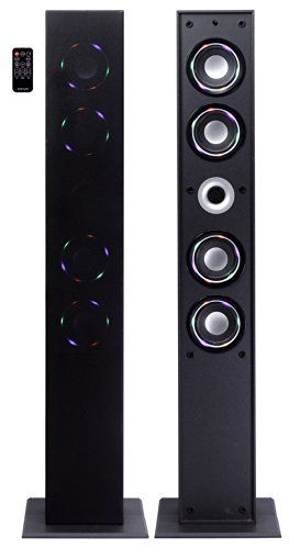 PRODUCT DETAILS : The Craig Tower Speaker System features built-in 4 high-powered speakers and easily connects to your Smartphone or other Bluetooth wireless technology enabled audio devices.Color Changing Lighted speakers [ ]