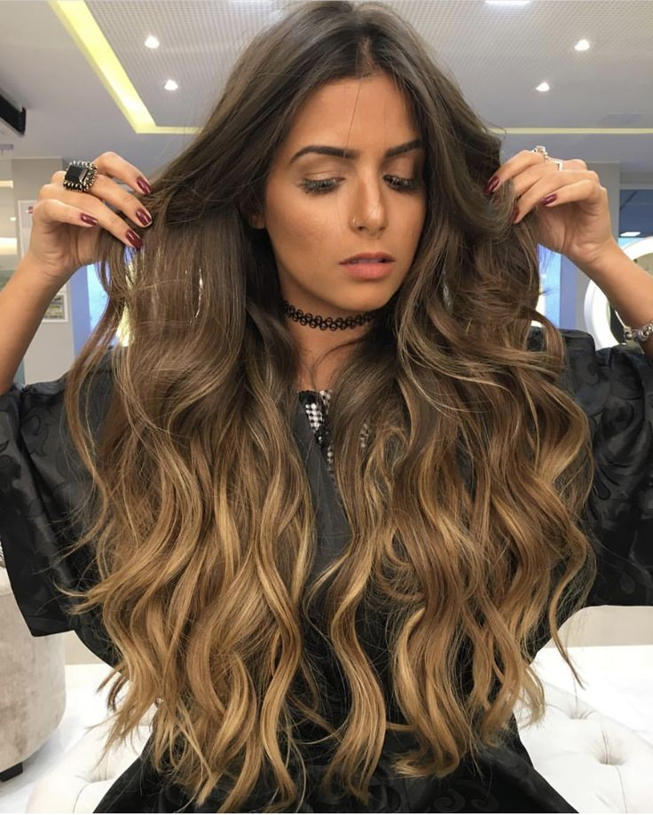 Love this style in long hair. Nothing but the Power of attraction. Gorgeous.