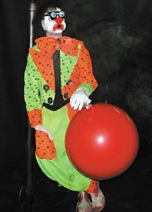 creepy the clown animated haunted house prop halloween scary clown - Scary Clown Halloween Decorations