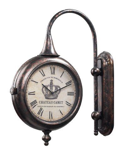 Sterling Home Bronze Metal Double Sided Train Station Style Chateau Wall Clock Sterling Home http://www.amazon.com/dp/B005NYVPCU/ref=cm_sw_r_pi_dp_WRfeub01RBAFN