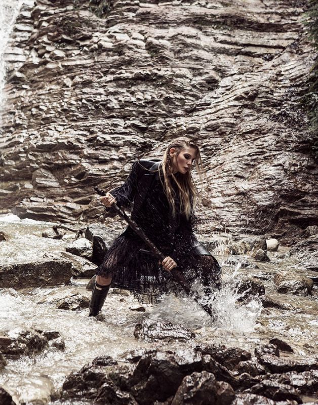 Sarah Brandner by Dirk Bader for Quality Magazine.      #model #editorial #fashion #photoshoot #photography #woman #strong #pirate #viking #style #beautiful #german #girl