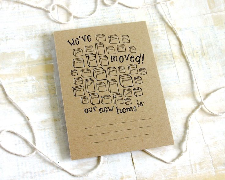 We've Moved letterpress new address announcements. $20.00, via Etsy.