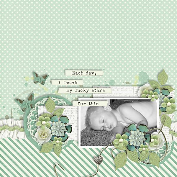 Layout by CT Tia with My Lucky Stars - Click on image to see the kits and bundle.