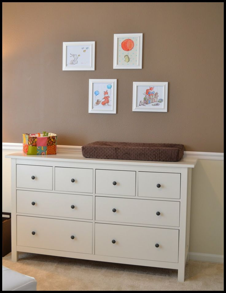 ikea hemnes drawers to also use as changing table