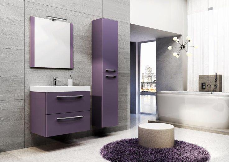 Jump 60 2S violet mat. #elita #meble #lazienka #jump #bathroom #furniture #colorful #washbasin