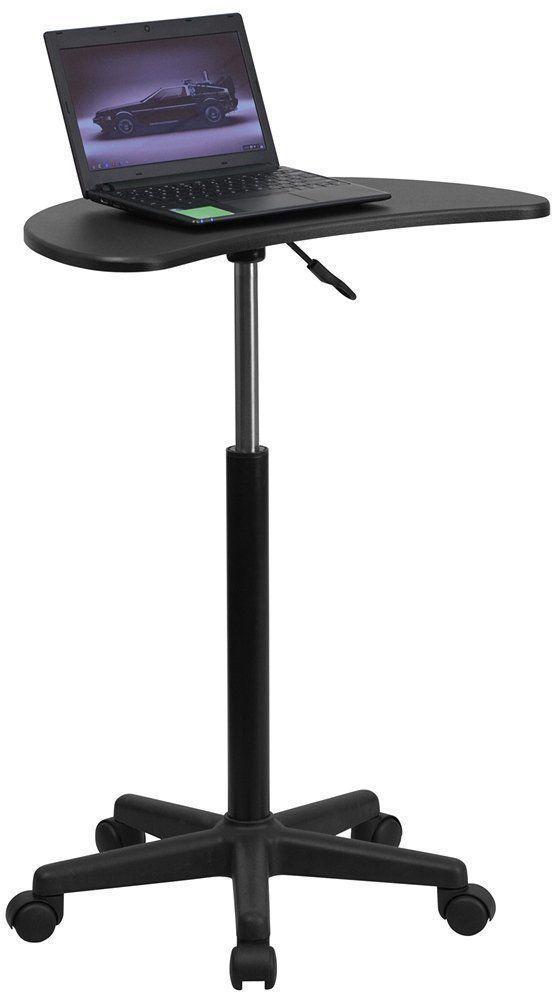 Mobile Teachers Laptop Computer Desk Podium Adjustable Height New Free Shipping
