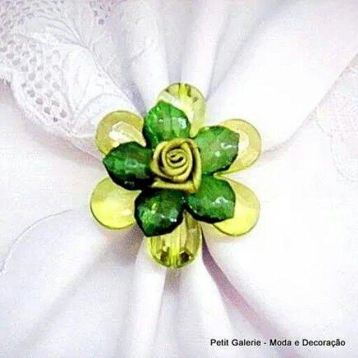 Porta Guardanapo Flor - verde