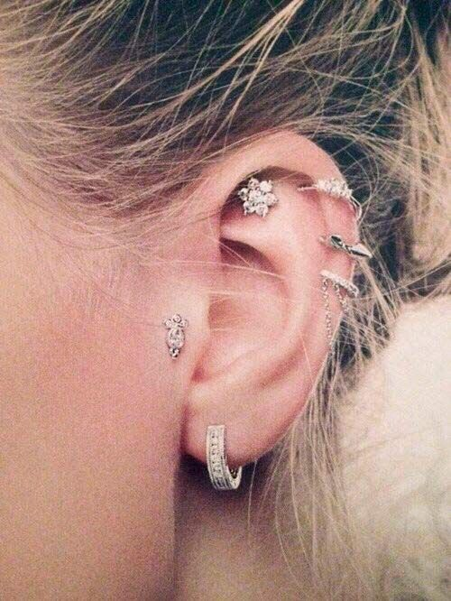 Piercing Types and 80 Ideas On How to Wear Ear Piercings | Beauty Tips, Hair Care & Vine Vera