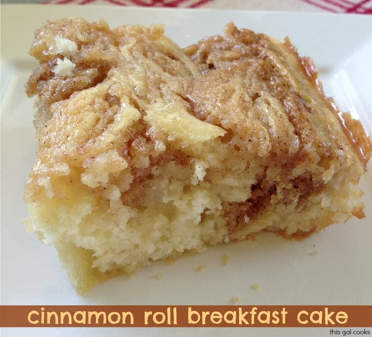 Oh yum!  MUST make this soon! :) This Gal Cooks: Cinnamon Roll Breakfast Cake
