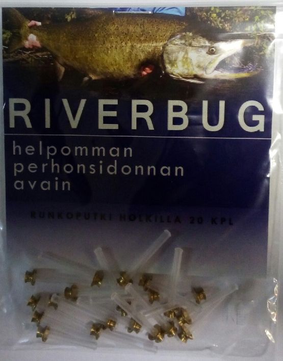 RiverBug tube fly sleeves in erakellari.fi -webshop. #fishing #flyfishing #fly #art #shopping #flytying #perhonsidonta #putkiperho #fluefiske #flugfiske #perhokalastus #riverbug www.riverbug.fi