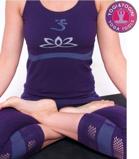 Yoga top lotus senza cuciture viola M-L