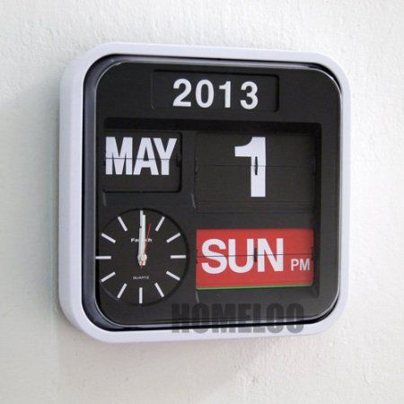 Diseño con texto en Fartech Retro 30,48 cm con tapa de brillantes Auto escritorio reloj de pared