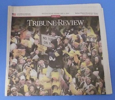 Pittsburgh Steelers Super Bowl XLIII Parade Feb 2009 Tribune Review | eBay