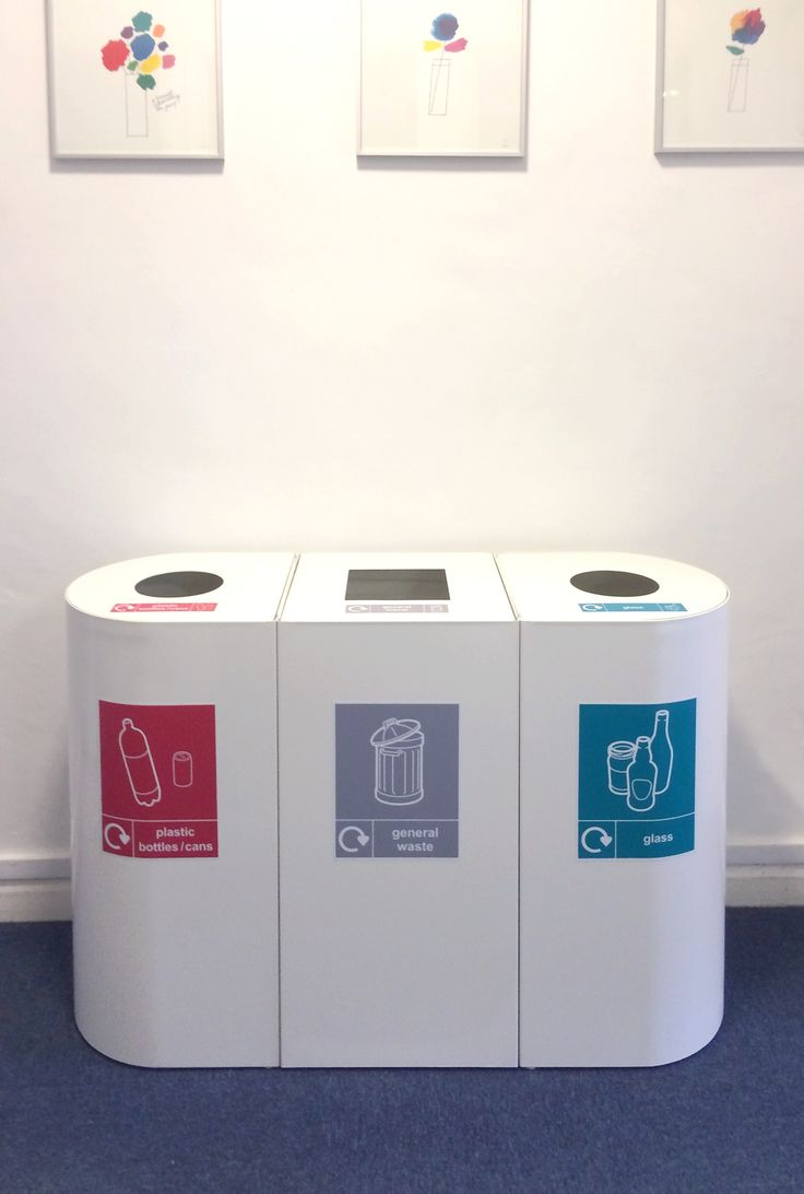 Office Recycling Bins Sorting. Home Office Design UK - £175 square, £195 rounded
