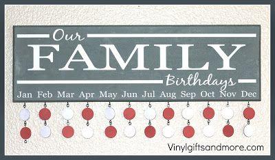 Family Birthday Boards