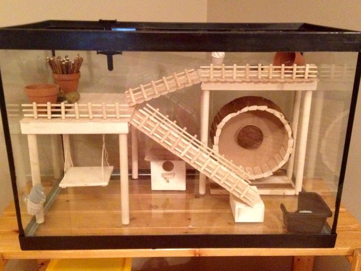 Hamster cage diy aquarium conversion diy projects for How to make a diy hamster cage