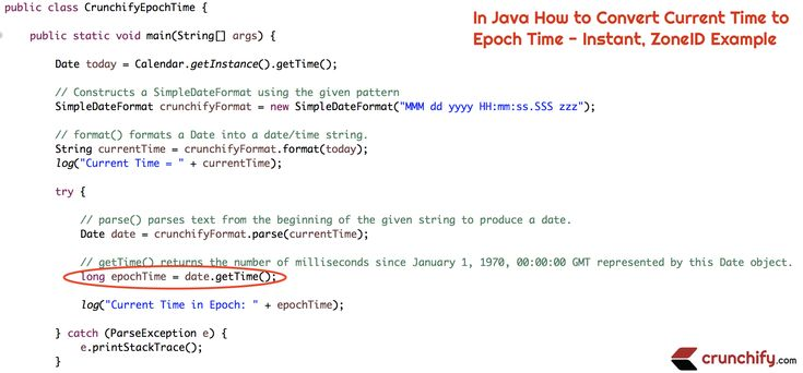 In #Java How to Convert Current Time to #Epoch Time – Instant, ZoneID #Example https://crunchify.com/in-java-how-to-convert-current-time-to-epoch-time-instant-zoneid-example/ #interview
