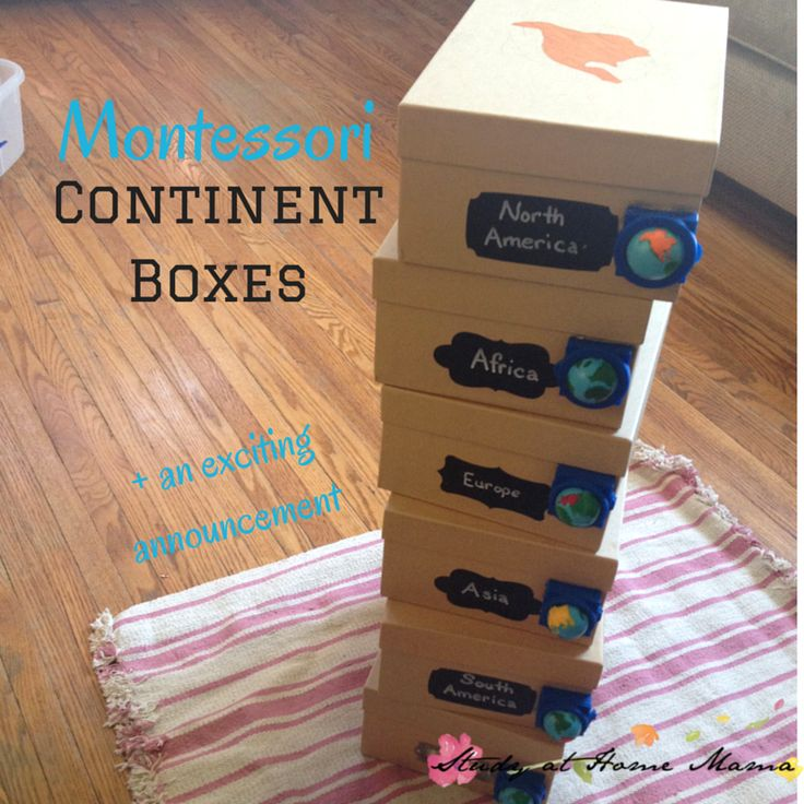 How to Make Montessori Continent Boxes, a fun hands-on learning component to a Montessori Geography curriculum - includes list of materials & tips!