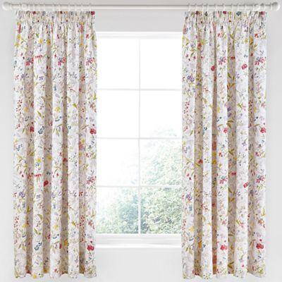 V & A Multicoloured cotton sateen 'Botanica' curtains | Debenhams