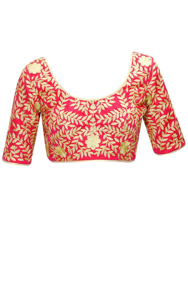 Pink gulbahar blouse available only at Pernia's Pop-Up Shop.