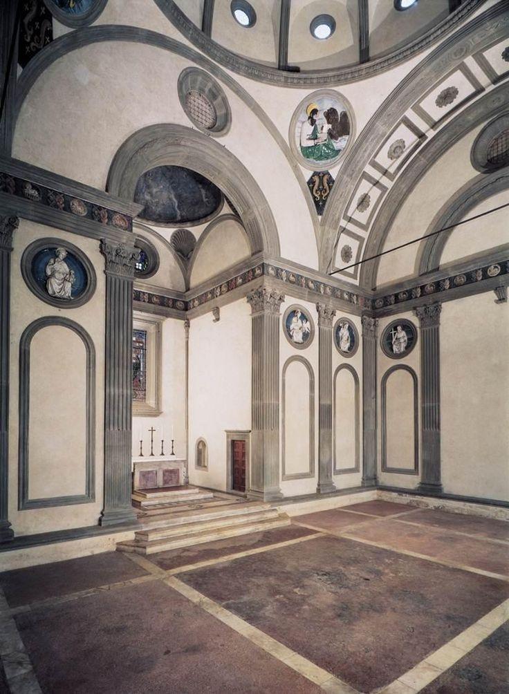 Filippo Brunelleschi, Cappella de' Pazzi, ca 1461, Firenze. Veduta dall'interno. | Pearltrees