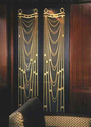 Art Deco Curtain Google Da Ara Art Deco Curtains Art Deco Deco