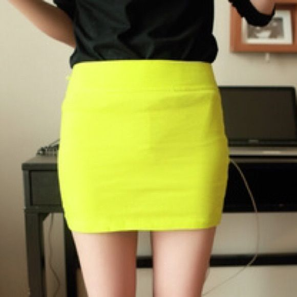 Neon skirt New without tag. Material is stretchable. No trade Skirts