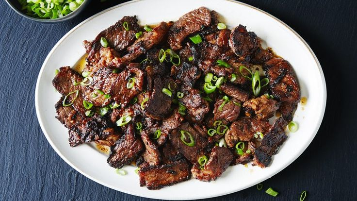 Basic Bulgogi. many meats may be used: boneless pork loin, trimmed hanger steak, boneless short rib, or skinless, boneless chicken breasts or thighs ♥ Bon Appetit