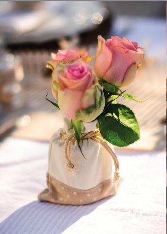 Décoration Mariage Cérémonie Baptême Anniversaire Ambiance Chic Romantique Lin, gris et blanc