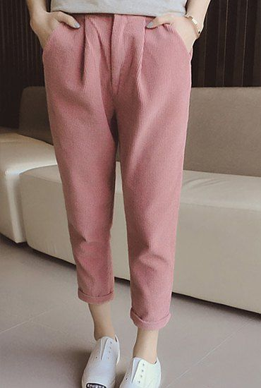 corduroy pants| $10.52  kawaii pastel hipster neogal ulzzang fachin pants bottoms under20 under30 sammydress