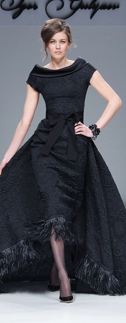 Wow- Igor Gulyaev 2014/15, I'm not a fan of fringe, but the dress is stil gorgeous.